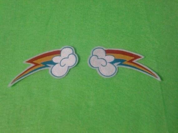 double rainbow patch set