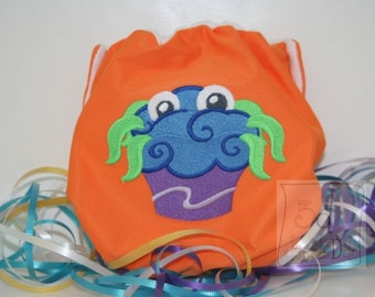 Embroidered Cupcake Monster Cloth Pocket Diaper