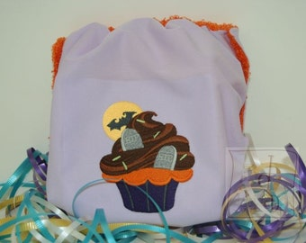 Embroidered Graveyard Cupcake Waterproof Cloth Diaper Cover
