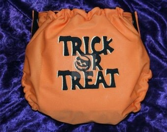 Trick or Treat Embroidered Cloth Pocket Diaper or Cover