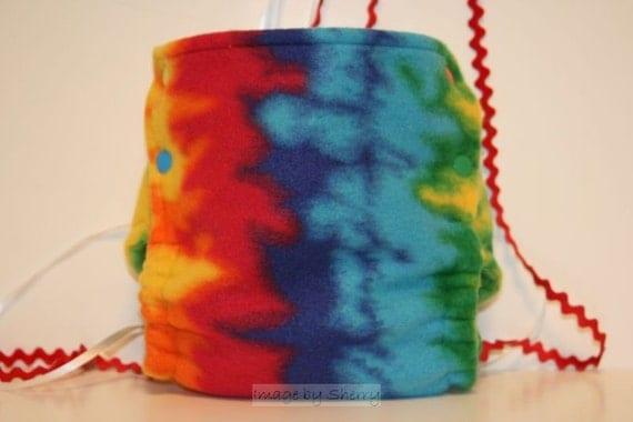 Totally Tie-Dye Fleece Cloth Diaper Cover