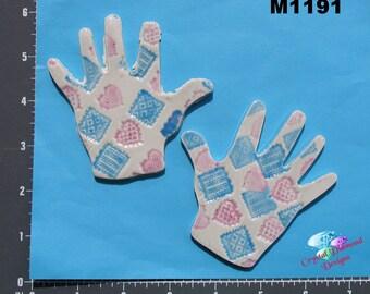 HANDS - Kiln Fired Handmade Mosaic Tiles - M1191