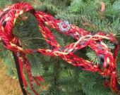 SALE Wedding Handfasting Cord - Elemental Fire red black gold