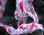 SALE Wedding Handfasting Cords - Butterfly Garden Pink
