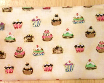 Reusable cloth snack bag - Decatant Desserts with gold accent