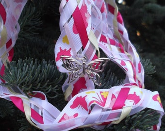 SALE Wedding Handfasting Cords - Butterfly Garden Pink