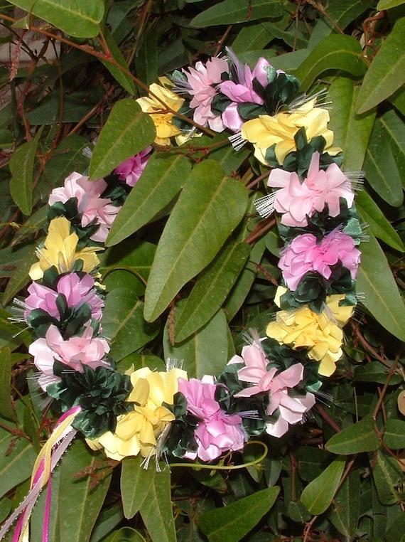 hawaiian spring flower haku lei for flower girl or bride