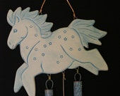Pony Copper and Ceramic Wind Chime with Patina