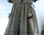 Vintage Looking Christmas Dress and Pinafore in size 6