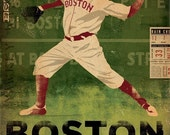 Boston Baseball Club boston red sox fenway park  original illustration gallery wrap on canvas 12 x 16