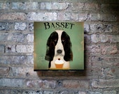 Basset Hound Cupcake Company Canvas Art graphic art on gallery wrapped canvas by stephen fowler
