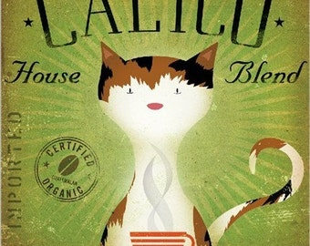 Calico Coffee Company graphic artwork illustration archival giclee print