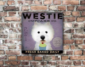 Westie Cupcake Company original graphic art on gallery wrapped canvas by stephen fowler