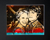 Couples Portrait photo painting custom gifts for boyfriend girlfriend gift customized personalized pop art