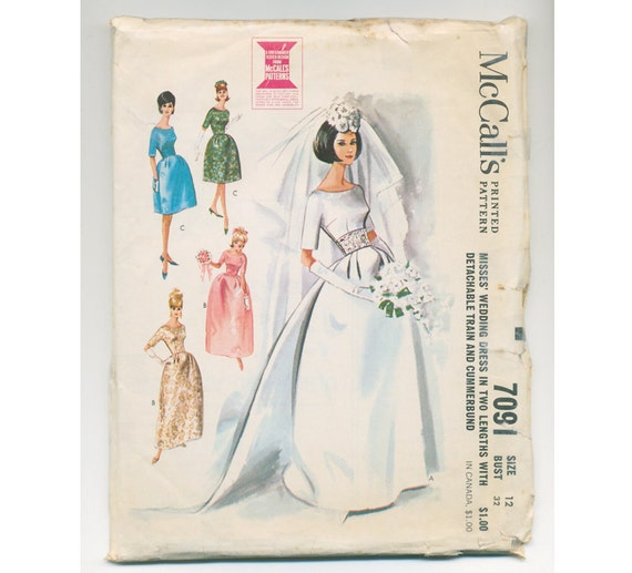 1960s Wedding or Special Occasion Gown Pattern - Bust 32