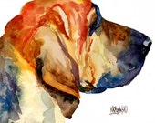 Bloodhound Art Print of Original Watercolor Painting 8x10