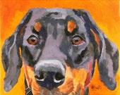 Doberman Pinscher Art Print of Original Acrylic Painting - 8x10
