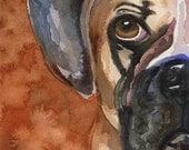 Boxer Dog 11x14 Signed Art Print