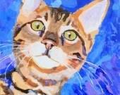 Bengal Cat Art Print of Original Acrylic Painting - 11x14