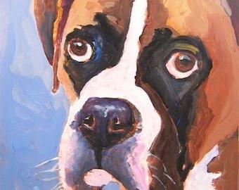 Boxer Art Print of Original Acrylic Painting - 11x14
