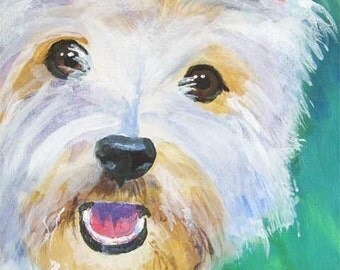 West Highland White Terrier art print of original acrylic painting - 11x14 signed by artist - dog art