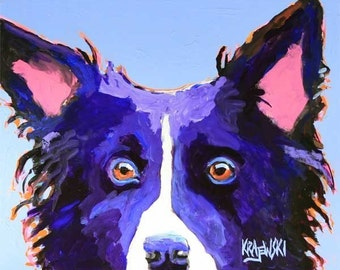 Border Collie Art Print of Original Acrylic Painting - 11x14 Dog Art