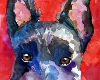 Scottish Terrier Art Print of Original Watercolor Painting - 8x10 Scottie