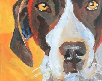 German Shorthaired Pointer Art Print of Original Acrylic Painting - 11x14