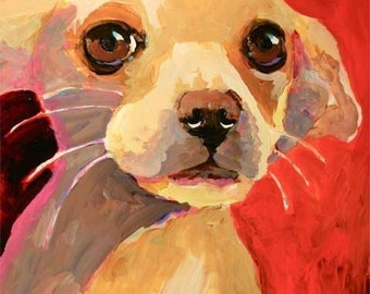 Chihuahua Art Print of Original Acrylic Painting - 11x14 Dog Art