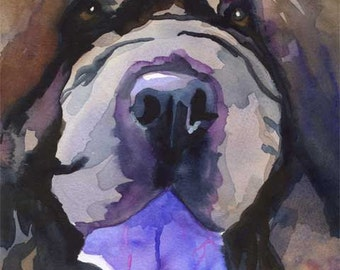 Chow Chow Art Print of Original Watercolor Painting 8x10