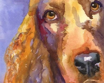 Irish Setter Art Print of Original Watercolor Painting - 11x14 Dog Art