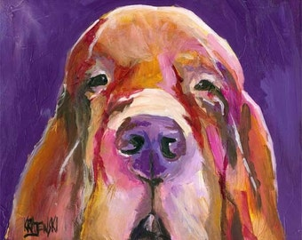 Bloodhound Framed Original Acrylic Painting