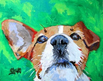 Jack Russell Terrier Art Print of Original Acrylic Painting 11x14