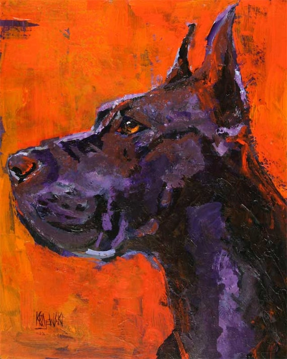 Great Dane Original Acrylic Painting 11x14