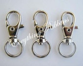 10 Swivel Lobster Claw Snap Trigger Hook Clips for Key Fob Key Chains, Tags and Lanyards - SEE COUPON