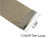 25 Belt Buckle End Tips - Nickel Plated - 1.25 Inch (32mm) - SEE COUPON