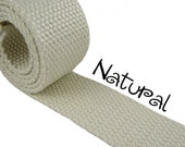 "Cotton Webbing - Natural - 1.25"" Medium Heavy Weight for Key Fobs, Purse Straps, Belting - SEE COUPON"