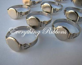25 Adjustable Rings with Glue Pad for Fabric Covered Button Rings - 10 PERCENT REFUND