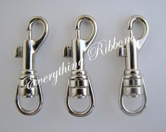 10 Swivel Snap Trigger Hook Clips for Key Fob Key Chains, Tags and Lanyards - SEE COUPON