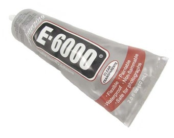 E6000 - 2 oz Jewelry and Craft Adhesive Glue for Cover Buttons, Bottle Caps, Magnets, Glass Pendents, Scrabble Tiles - SEE COUPON