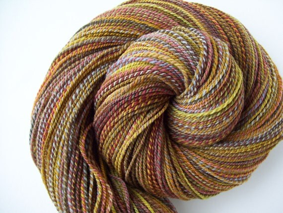 Gypsy Wagon - 2 ply Handspun Merino Yarn - 410 yards
