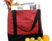 Pseudo Suede-Brick Shopping Bag