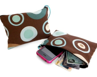 Concentric Circles Zippered Pouch