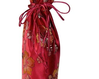 Red Hibiscus Wine Bag
