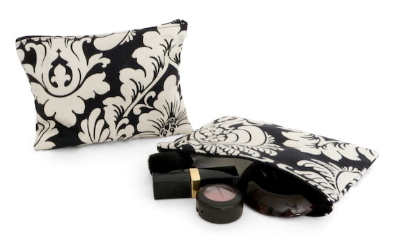 French Tapestry Zippered Pouch