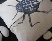 Bug Zoo (beetle) printed cushion