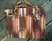 Cool 1940s woven rag style Purse and Super Sheer Silk Blouse as a Bonus Garnet Hill