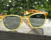 Reserved for Hannah C  Foster GRant 1940s Womens Sunglasses Apple Juice clear plastic and Root Beer side arms COOL  Rare item