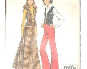 1972 Long Skirt and Pants Vest Simplicity 5229 very cute sz 14 B36 W28