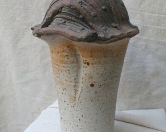 HANDTHROWN POTTERY VASE BEATNIK ERA Studio Pottery